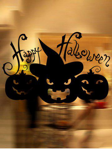 Fashion Happy Halloween Pumpkin Witch Removable Waterproof Room Wall Sticker