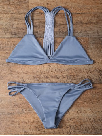 Shops Fashion Solid Color String Bikini Set For Women