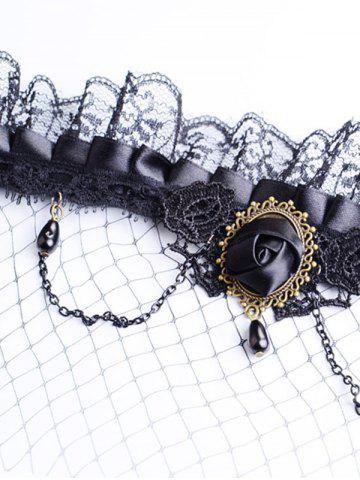 Buy Rose Water Drop Forehead Chain Party Mask - BLACK  Mobile