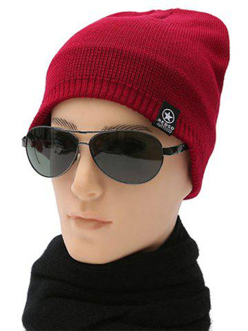 Sale Winter knitted Ski Beanie - RED  Mobile