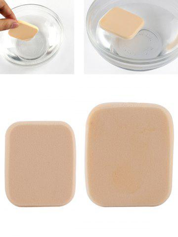 Hot Water Swellable Face Powder Puffs - APRICOT  Mobile