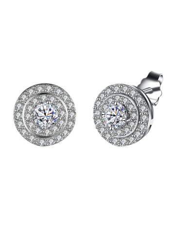 Online S925 Diamond Stud Earrings SILVER