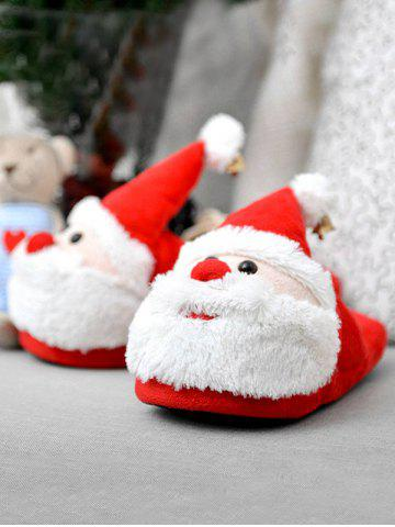 Outfits Cartoon Flocking Christmas Slippers - SIZE(39-40) RED Mobile