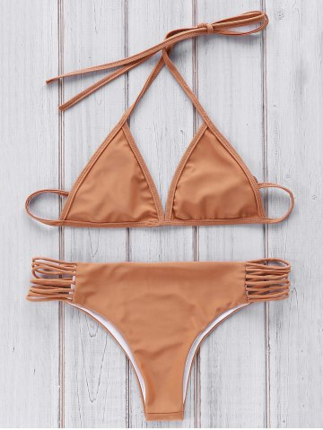 Stylish Cami Brown Women's Bikini Set - BROWN ONE SIZE(FIT SIZE XS TO M)