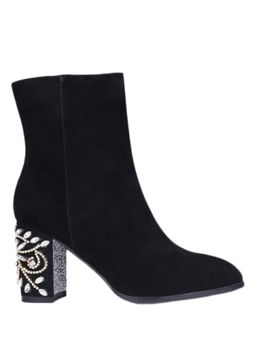 buy cheap many kinds of Zipper Weave Chunky Heel Ankle Boots - Black 39 cheap sale official outlet with paypal outlet store sale online eBWkQ