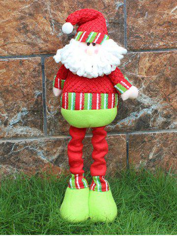 Hot Festival Party Decor Stretched Santa Christmas Puppet Toy