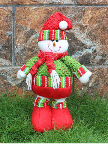 Shops Festival Party Decor Stretched Snowman Christmas Puppet Toy - RED AND GREEN  Mobile