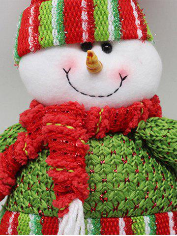 Outfits Festival Party Decor Stretched Snowman Christmas Puppet Toy - RED AND GREEN  Mobile