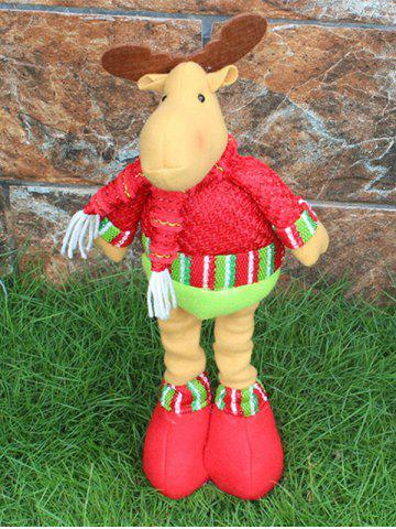 Shops Festival Party Decor Stretched Deer Christmas Puppet Toy RED AND GREEN