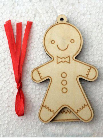 Buy 2PCS Wooden Cookie Pendants Christmas Tree Supplies Party Decoration - WOOD  Mobile