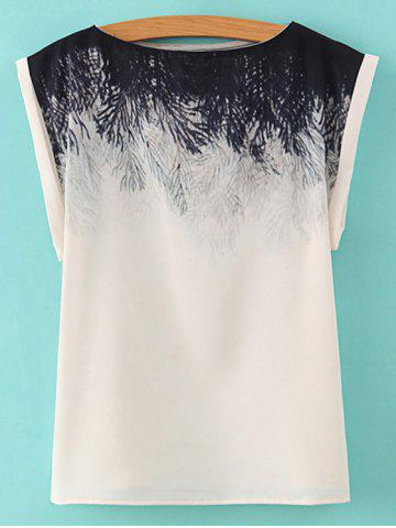 Chic Trendy Slash Neck Printed T-Shirt For Women