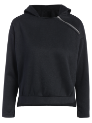 Zipped Pullover Hoodie