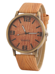 Motif en bois Vintage Montre - Orange