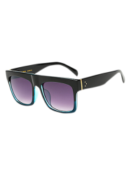 Refroidir Color Block Sunglasses Rectangle Frame - Bleu Clair