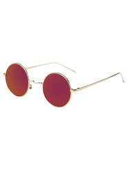 Metal Retro Round Mirror Sunglasses -