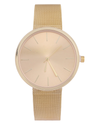 Steel Mesh Band Quartz Watch - GOLDEN