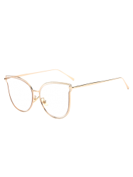 Travel Hollow Out Double Frames Butterfly Shaped Sunglasses -