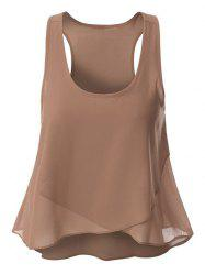 Overlaped Women's Chiffon Tank Top