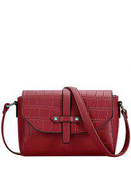 Trendy Crocodile Pattern and PU Leather Design Crossbody Bag For Women