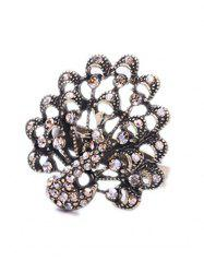 Chic Rhinestone Peacock Shape Ring For Women