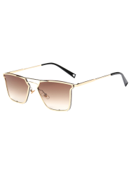 Quadrate Irregular Double Rims Sunglasses