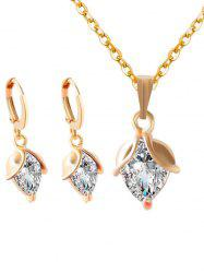 Faux Crystal Wedding Jewelry Set