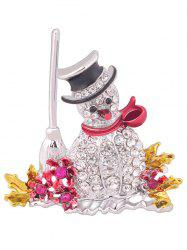 Christmas Snowman Brooch