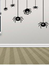 Irregular Spider Design Halloween Vinyl Wall Stickers Custom -