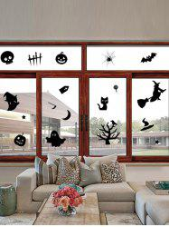 Halloween Series Removable Waterproof Room Vinyl Wall Sticker - BLACK