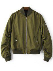 Stand Neck Zippered Women's Pilot Jacket