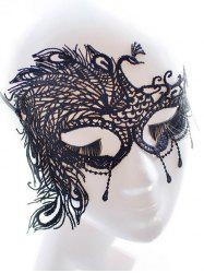 Faux Lace Peacock Feather Party Mask -