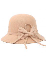 Bowknot Long Band Felt Fedora Hat