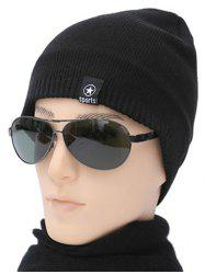 Winter knitted Ski Beanie - BLACK