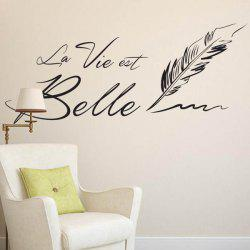 Vinyl Letter Quote Wall Stickers - DEEP GRAY