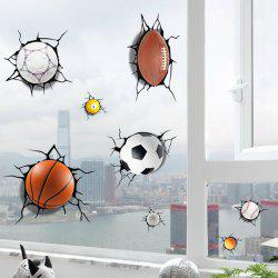 3D Ball Games Sports Wall Stickers For Bedrooms