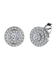 S925 Diamond Stud Earrings