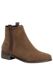 Suede Rounde Toe Short Boots