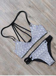 Padded Strappy Two Tone Bikini Set