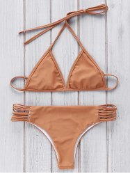 Stylish Cami Brown Women's Bikini Set