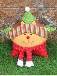 Christmas Party Decoration Reindeer Star Pillow