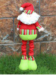 Festival Party Decor Stretched Santa Christmas Puppet Toy - RED AND GREEN