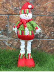 Festival Party Decor Stretched Snowman Christmas Puppet Toy - RED AND GREEN