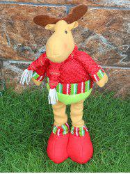 Festival Party Decor Stretched Deer Christmas Puppet Toy -