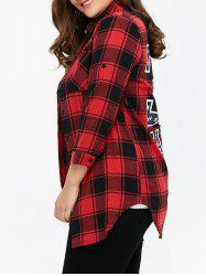 Plus Size Plaid Graphic Shirt