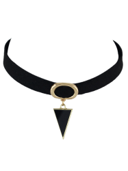 Triangle Fake Gem Choker Necklace