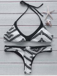 Halter Printed Swimsuit