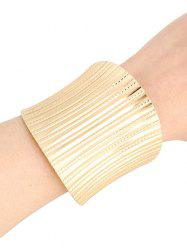 Chic Stripy Cuff Bracelets For Women - GOLDEN