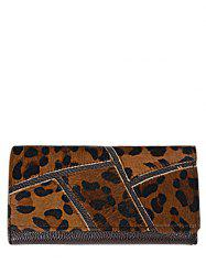 Trendy Splicing and PU Leather Design Wallet For Women