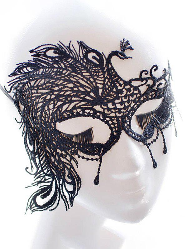 Faux Lace Peacock Feather Party MaskHOME<br><br>Color: BLACK; Headwear Type: Hairbands; Group: Adult; Gender: For Women; Style: Vintage; Pattern Type: Animal; Weight: 0.0700kg; Package Contents: 1 x Mask;