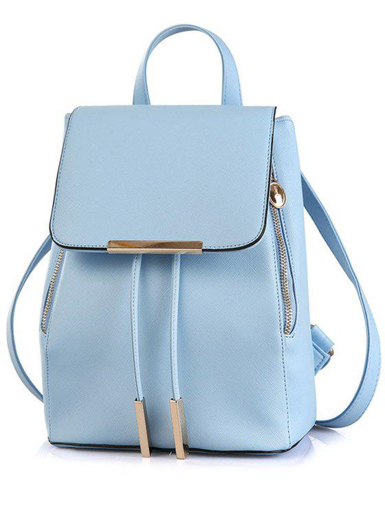 Discount Preppy Cover and Solid Color Design Satchel For Women